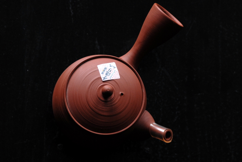 red gyokuro kuushu japanese tea pot