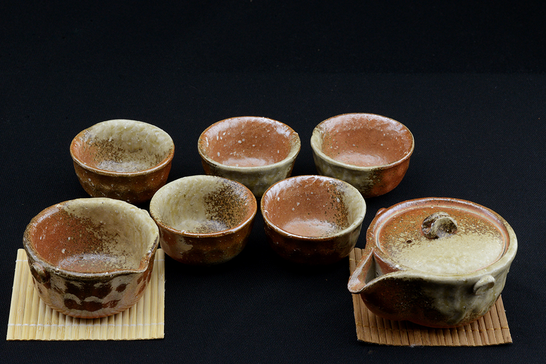 Rakusai Takahashi japanese tea set
