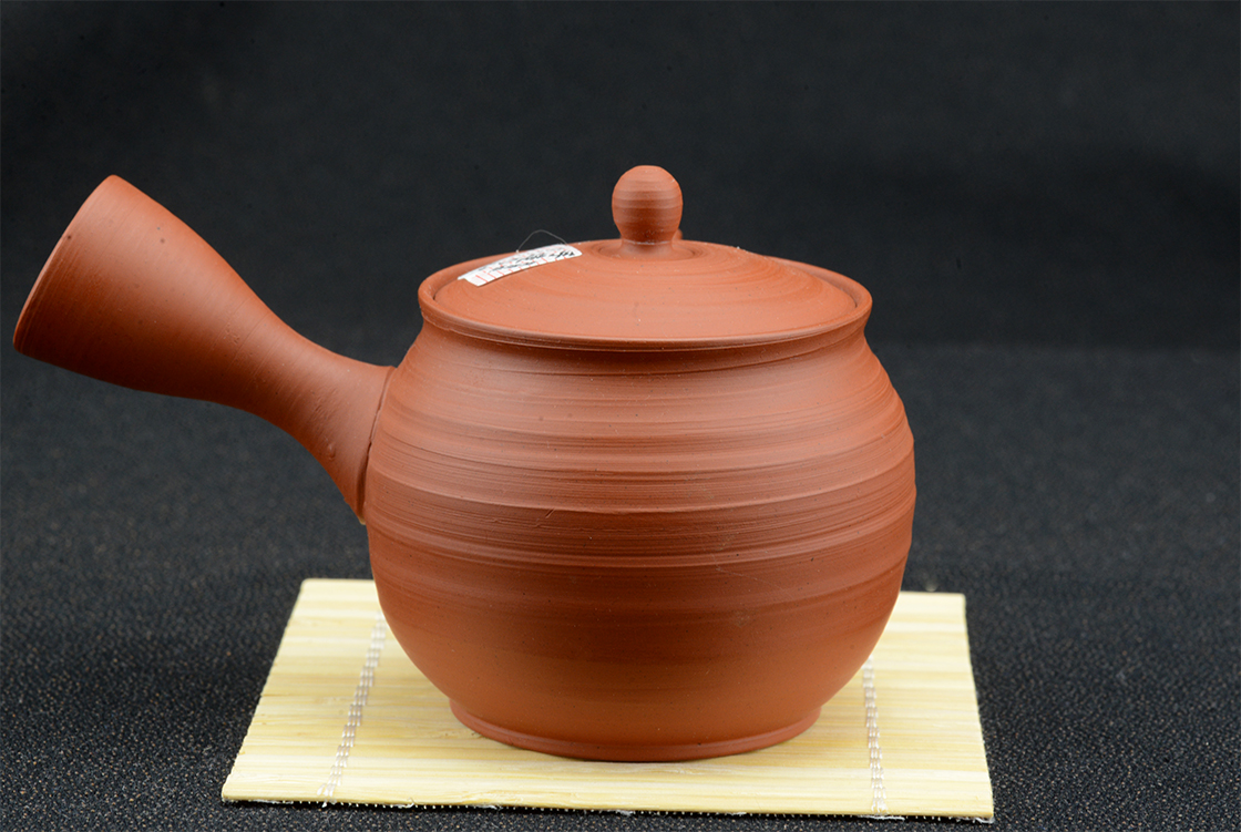 red tokoname gyokuro kuushu japanese tea pot